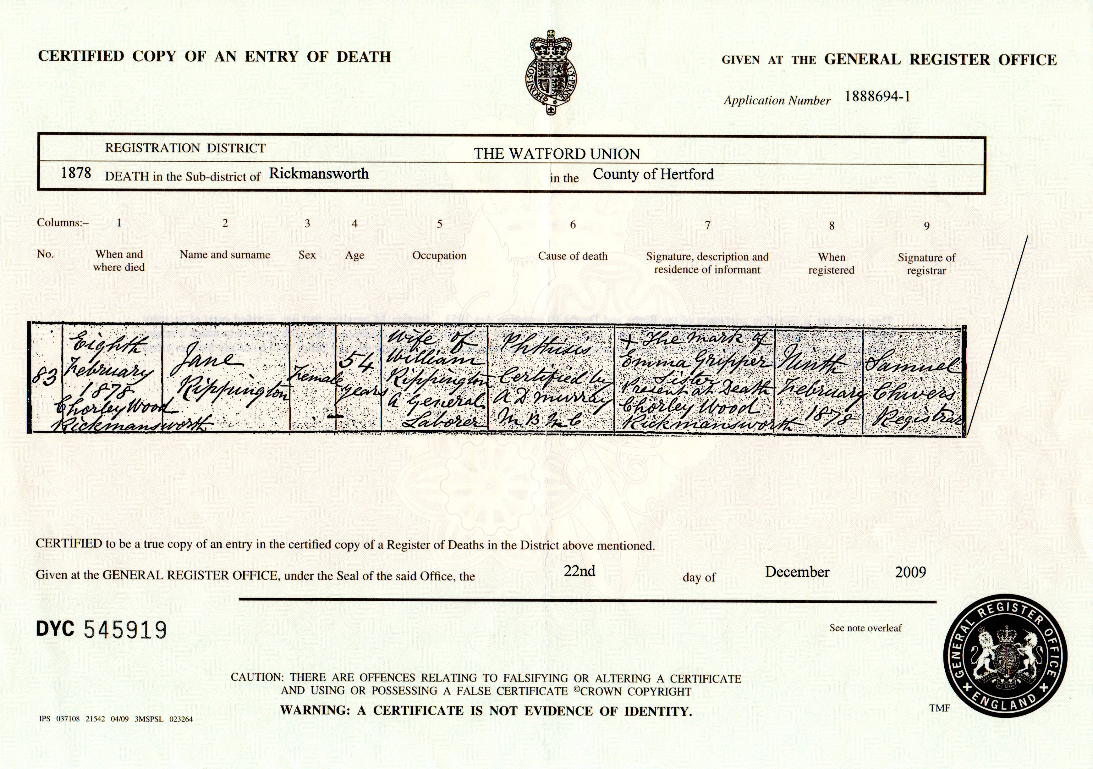 how to get certified copy of death certificate uk